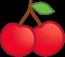 ícono de sabor a cereza