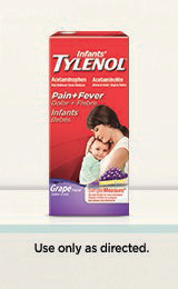 Infant's TYLENOL® Pain and Fever Oral Suspension (Suspensión oral sabor a uva)