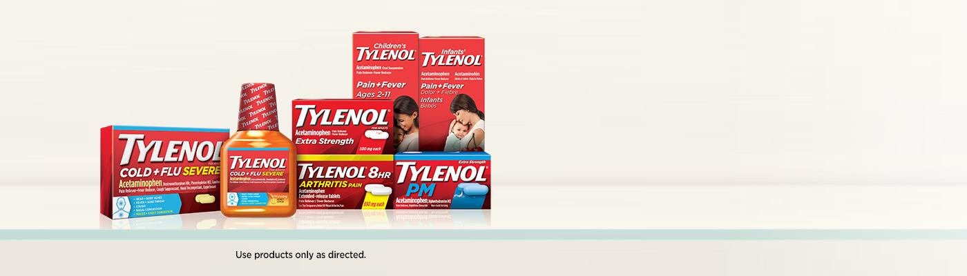 Tylenol products display