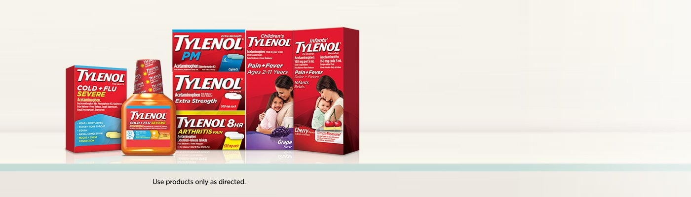 Tylenol products display