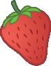 ícono de sabor a fresa