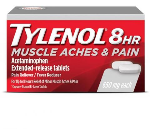 TYLENOL® 8 HR Muscle Aches and  Pain (Comprimidos)