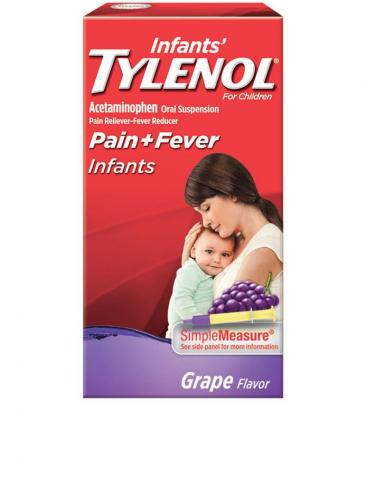 Infants TYLENOL®  pain and fever grape flavor
