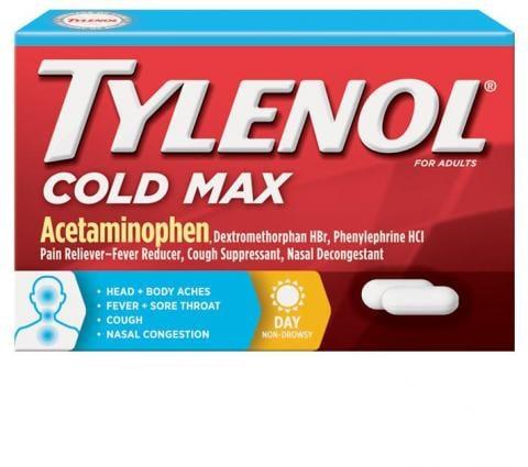 TYLENOL® Cold Max Daytime Caplets (Comprimidos)