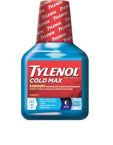 TYLENOL® Cold Max Nighttime COOL BURST® Liquid (Jarabe)