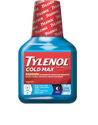 TYLENOL® Cold Max Nighttime COOL BURST® Liquid