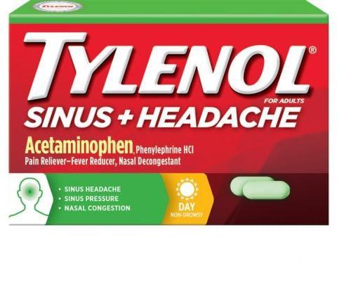TYLENOL® Sinus + Headache Daytime Caplets (Comprimidos)