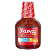 TYLENOL® Cold + Flu Severe Warming Honey Lemon Liquid (Jarabe, miel y limón)