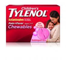 Children's TYLENOL® Pain and Fever Chewables bubblegum flavor