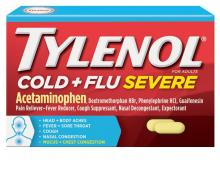 TYLENOL® Cold + Flu Severe Medicine for Relief of Cold, Flu, Fever, Cough & Congestion Symptoms