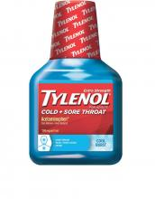 TYLENOL® Cold + Sore Throat COOL BURST® Liquid (Jarabe)