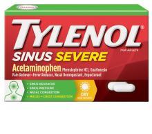 TYLENOL®SinusSevere Daytime, analgésico con descongestionante para el alivio de la presión y la congestión de los senos nasales