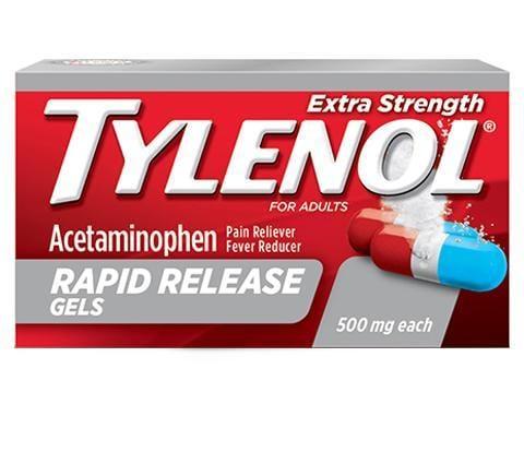 Cápsulas de liberación rápida TYLENOL® Extra Strength