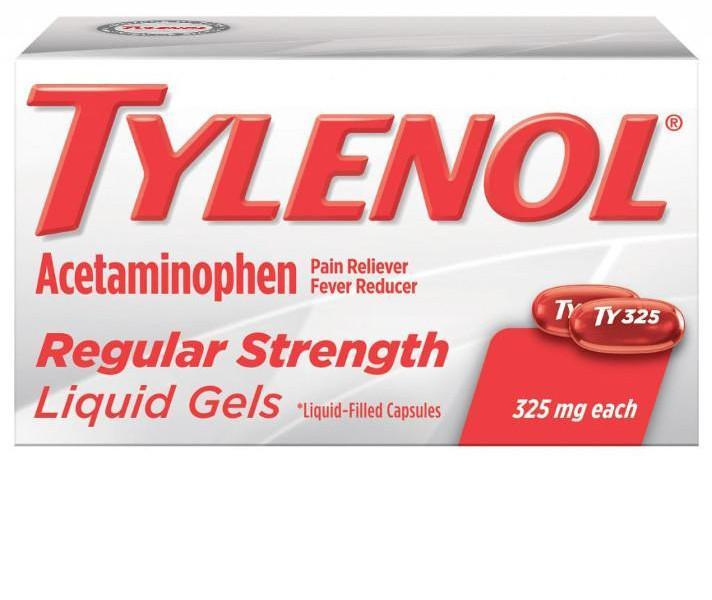 TYLENOL® Regular Strength Liquid Gels (Comprimidos de gel líquido)