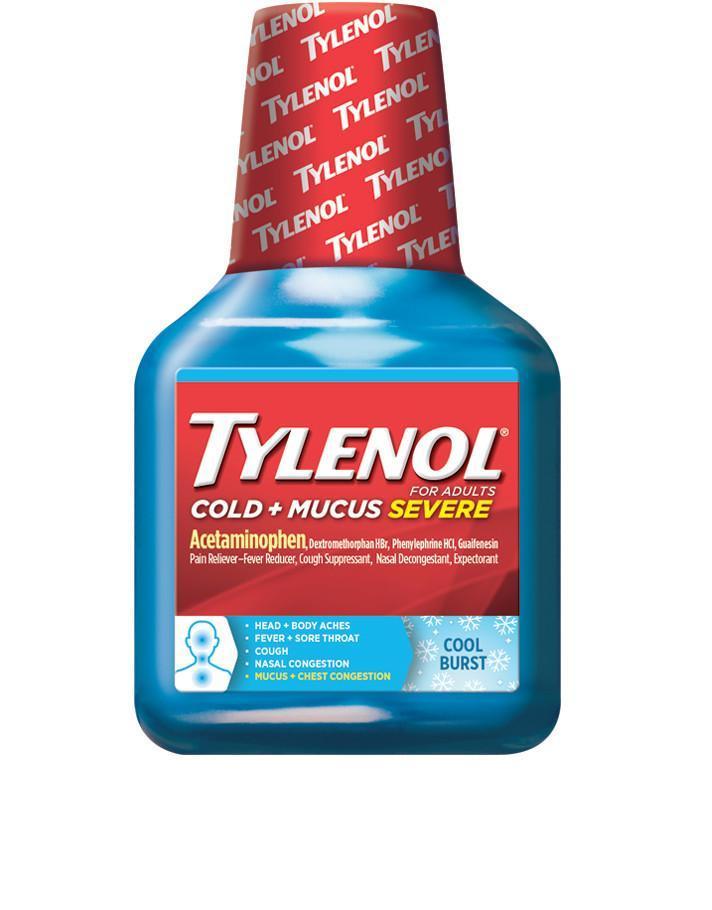 TYLENOL® Cold and Mucus Severe Cool Burst Liquid