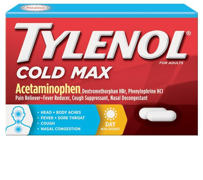 TYLENOL® Cold Max Daytime Caplets (Comprimidos)