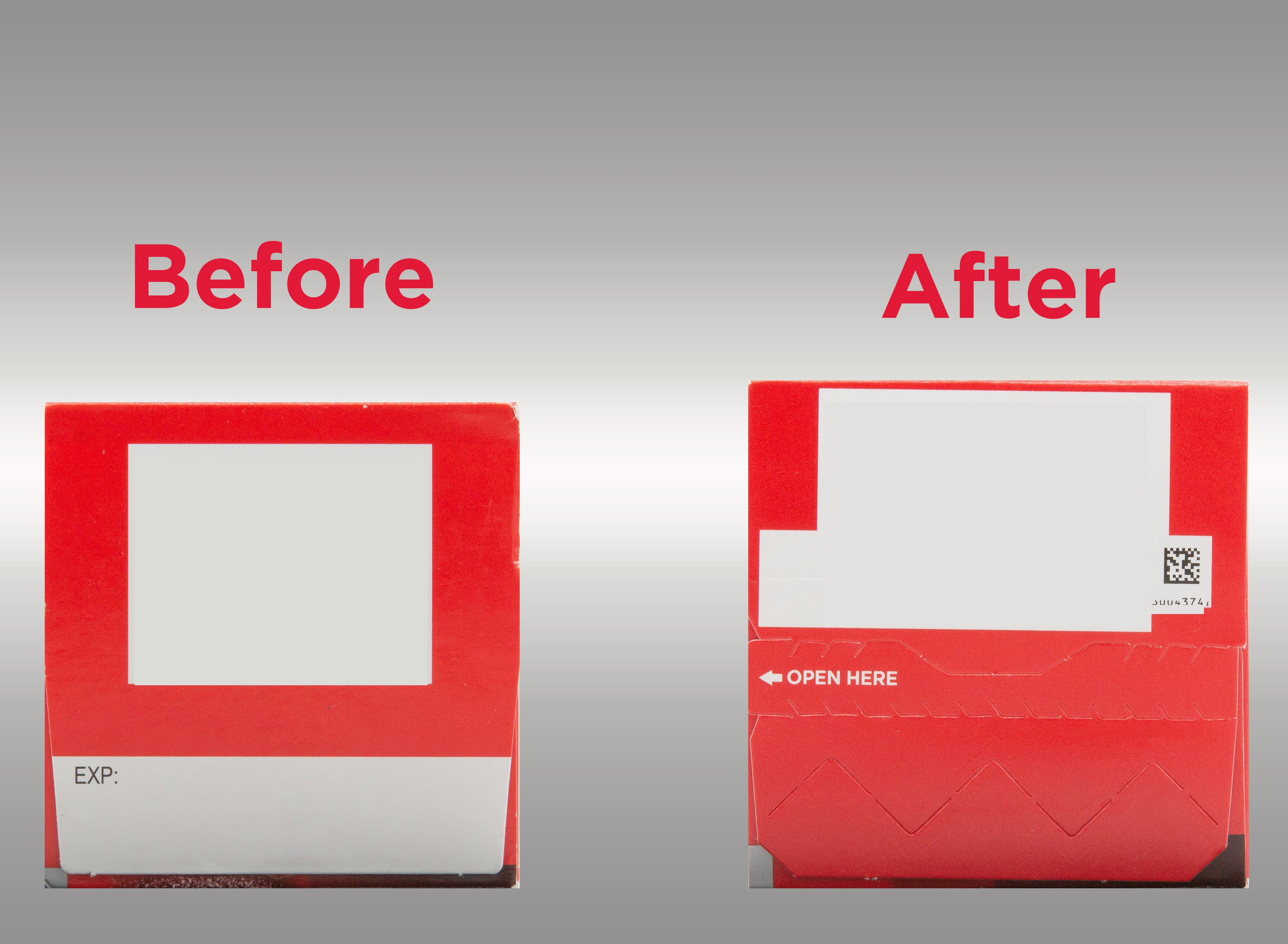 Old Tylenol carton vs new Tylenol carton