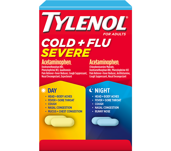 Tylenol Cold And Flu Severe Day Night Comprimidos Tylenol
